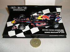 MINICHAMPS 410100205 Red Bull Renault Brazilian RB6 F1 Car 2010 S Vettel 1:43