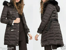 Zara m plumón abrigo chaqueta Feather Down Long Padded coat Jacket búfer anorak