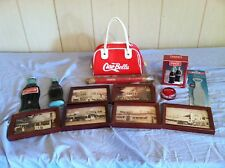 Coca Cola Asst. Lot-Pictures,Purse,Yo-Yo,S&P Shakers,Pencil,Opener,Wall Bottles