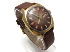 USSR Gold Plated AU10 mechanical Automatic watch RAKETA 2627H color bordeaux