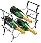 RTA 12 Bottle Chrome Metal Wine Rack 3 Tier Modular Wine Rack