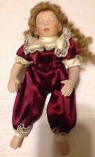 "Vintage Porcelain Small Doll Blonde Hair 7"" tall"