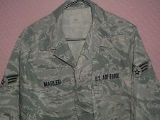 USAF AIR FORCE DIGITAL TIGER STRIPE COMBAT UNIFORM SHIRT JACKET 42L