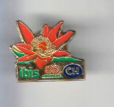 RARE PINS PIN'S .. TOURISME HOTEL RESTAURANT ACCOR IBIS FLEUR SUISSE SWISS ~CX