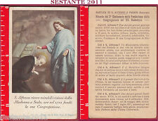 2600 SANTINO HOLY CARD S. ALFONSO VISIONI MADONNA A SCALA PAGANI SALERNO PIEGA