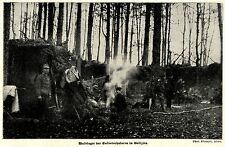 1915 * Waldlager der Salvatorhusaren in Galizien *  WW1