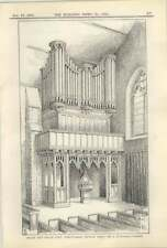 1913 The Organ And Loft, Whitstable Church, Kent A H Goodall Architect