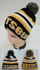 Lot of 24 Assorted PITTSBURGH Beanie PomPom Hats Winter Toboggan Knit w POM