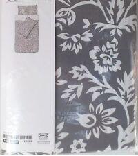 Ikea barrviva King Size cubierta del edredón y 4 Fundas De Almohada-Gris/Blanco floral