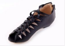 Womens Vintage Roman Glaidator Peep Toe Hollow Out Sandle Shoes Summer Causals