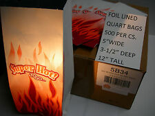 """FOIL BAG FOR HOT FOODS 500 CS.HOLDS HEAT, STRONG,COLORFUL QUART SIZE 5""""X3.5""""X12"""""""