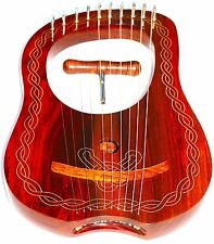 NEW DEURA SDC Lyre Harp 10 Strings with Tuning Key + Carring Bag ~~~~~~~~~
