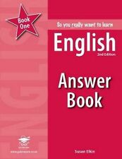 So You Really Want to Learn English Book 1: Answer Book, Susan Elkin, New Condit