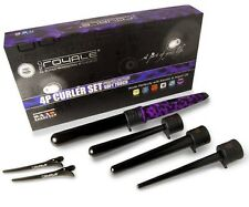 Royale 4P Tourmaline Pro Curling Iron/Wand Purple Leopard(Soft Touch)Set & Glove