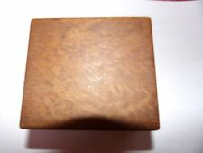 ART DECO SMALL CUBE SHAPED PLAIN WOODEN TRINKET BOX GREAT FOR WATCH / DECORATE
