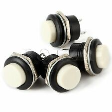 10pcs White Momentary Push-Button On/Off Switch 16mm