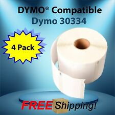 White Rectangular Shaped Labels 30334 , Dymo® Compatible 4 Rolls