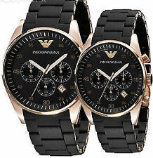 EMPORIO ARMANI AR5905 - AR5906 COUPLE WATCHES 2 YEARS WARRANTY +Original Box