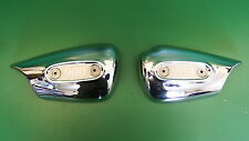TRIUMPH THUNDERBIRD PAIR CHROME CARB SIDE PANELS 900 with badges          panel