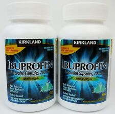720 Kirkland IBUPROFEN Capsules Liquid Soft 200 mg Pain Reliever Advil Liqui-Gel