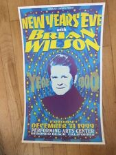 BRIAN WILSON  New Years Eve Redondo Beach Poster 1999
