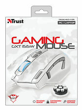 Trust 20852 Blanco Elite Gaming Mouse GXT155W Personalizable pesos de memoria a bordo