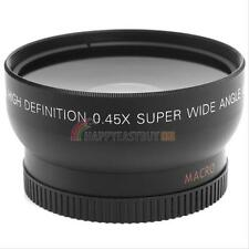 52MM 0.45X Fisheye Wide Angle Macro Lens for Canon Nikon Sony Pentax Camera UK