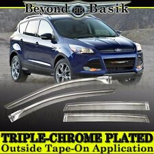 2013 2014 2015 2016 2017 Ford Escape Chrome Door Vent Window Visors Rain Guards
