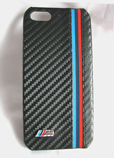BMW M-Tec Carbon Fibre Style Apple iPhone 5 & 5S Hard Case with M Badge GENUINE