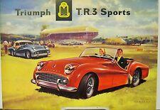 1958 Triumph TR3 Sports Car USA Dealer Sales Brochure Folder
