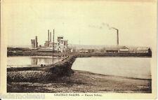 Ancienne carte postale, CHATEAU-SALINS, Usines Solvay, non écrite.