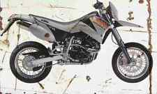 KTM LC4 E640 Supermoto 2001 Aged Vintage SIGN A4 Retro