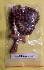 Rosario Francescano in legno di ulivo