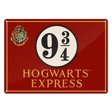 Harry Potter metal tin wall sign plaque Hogwarts Express Platform 9 and 3/4