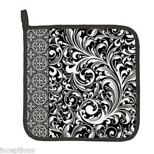 Michel Design Works Cotton Kitchen Potholder Black Florentine - NEW