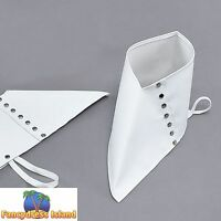 OLD VICTORIAN STYLE WHITE SPATS - mens womens fancy dress accessory