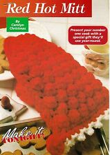 HANDY Red Hot Mitt/Decor/Crochet Pattern Instructions