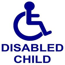 1 x Disabled Child Car Sticker-Disability Wheelchair Logo-External Mobility Sign