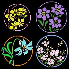 FLOWER CIRCLES - 36 MACHINE EMBROIDERY DESIGNS (AZEB)