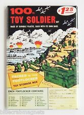 100 Toy Army Soliders FRIDGE MAGNET (2.5 x 3.5 inches) comic book advertisement