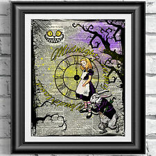 Gothic Dictionary art print Alice in Wonderland Steampunk Midnight decor Gift
