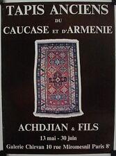 Affiche TAPIS CAUCASE et d'ARMENIE Exposition Achdjian & Fils