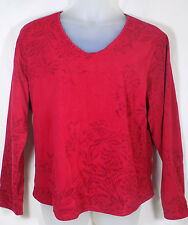Coldwater Creek 2X Red Fleece Pullover