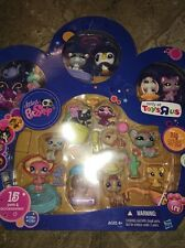 Littlest Pet Shop TOYS R US EXCLUSIVE 15 PETS PAW PRINT NIB 1736-1750 Multi Pack