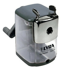 LYRA DESKTOP ROTARY PENCIL SHARPENER METAL BODY HEAVY DUTY with DESK CLAMP