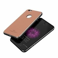 iNACU® iPhone 6/6S, Aluminum Metal Protective Frame with Leather Back Full Cover