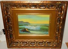 STEVENS SMALL OIL ON BOARD SEASCAPE OCEAN PAINTING