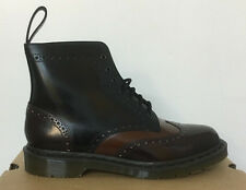 DR. MARTENS ANTHONY MERLOT +TAN + BLACK BOANIL  LEATHER  BOOTS SIZE UK 9