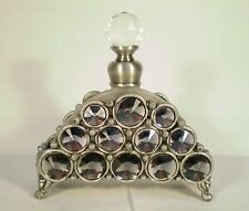 GLASS PEWTER ENAMEL CRYSTAL PERFUME FROSTED WHITE CRYSTAL ARCH GIFT