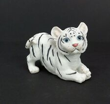 "Small White Tiger Figurine 2.5"" Tall Wild Cat Collectible Statue C"